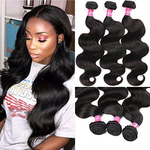 Eliana 8A Hair Brazilian Body Wave 3 Bundles 20 22 24inch Unprocessed Virgin Human Hair Bundles Body Wave Natural Black #1B Color Double Weft