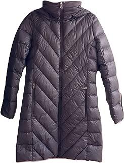 Lauren Ralph Lauren Packable Hooded Down Coat Light Grey S