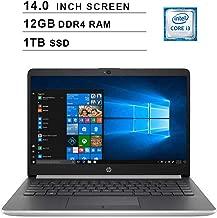 2019 Newest HP Pavilion 14 Inch HD Laptop (Intel Core i3-7100U 2.4GHz, 12GB DDR4 RAM, 1TB SSD, Intel HD Graphics 620, 802.11b|g|n, Bluetooth, HDMI, USB Type-C, Windows 10)