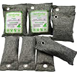 ENVEL 8 Bolsas de Bolsa de ambientador,carbón de bambú,Bolsas de ambientador Natural,eliminadores de olores de carbón Activado,ambientador Apto para Coche,baño,clóset de Mascotas