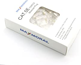 Maxmoral 100-Pack of Cat5e RJ45 Modular Connectors for Stranded Cat5e Cable