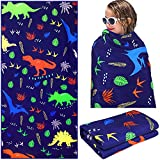 Dinosaur Beach Towel for Kids 30 x 60 Inches Large Colorful Dinosaur Microfiber Bath Towel Quick Dry Bath Blanket Soft Sand-Proof Beach Towel for Pool Swim Travel Sports Spa