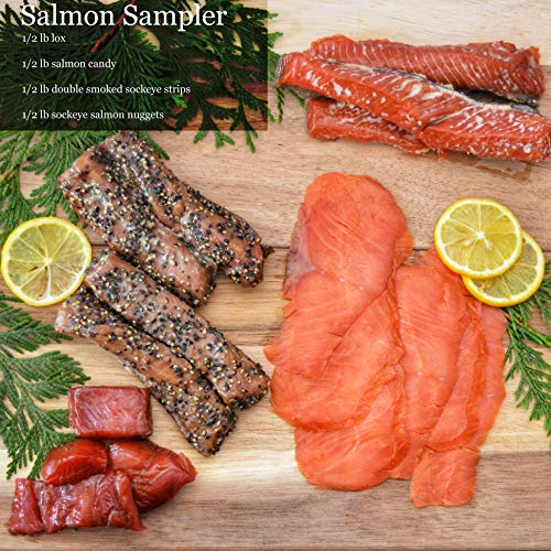 Salmon Sampler Christmas Gift Basket Gourmet Food Box for Family Corporate Gifts