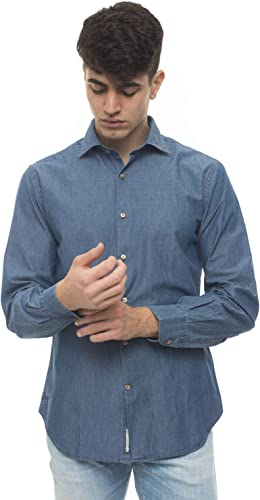 Brooksfield SHIRT, SLIM FIT, SPREAD COLLAR, LONG - 42, WASHED