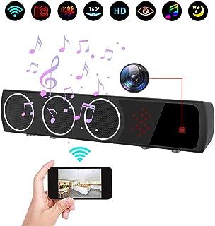 Cámara oculta en altavoz Bluetooth con visión nocturna más fuerte cámara espía inalámbrica 1080P WiFi HD con detección de movimiento/vista en tiempo real mini cámara para habitación oficina o tienda