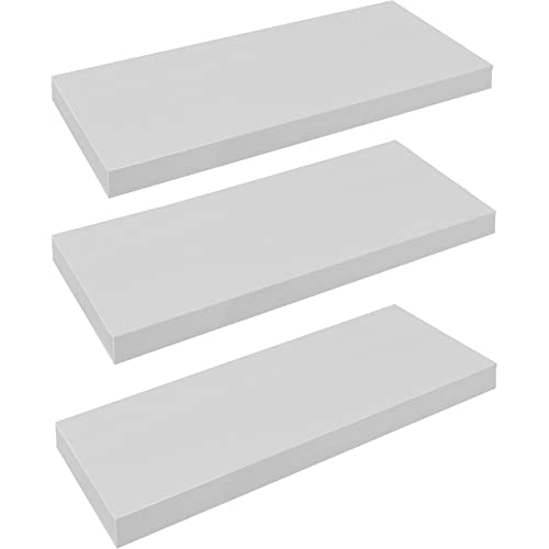 Groovy White Wooden Shelves Amazon Co Uk Beutiful Home Inspiration Ommitmahrainfo