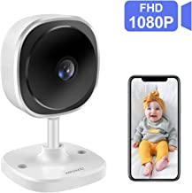 wandwoo Wireless 1080P Security Camera, WiFi IP Camera with 2 Way Audio,180° Fisheye Panoramic Security Camera Support Night Vision,Motion Detection,for Baby/Elderly/Pet/Nanny Monitor (White)