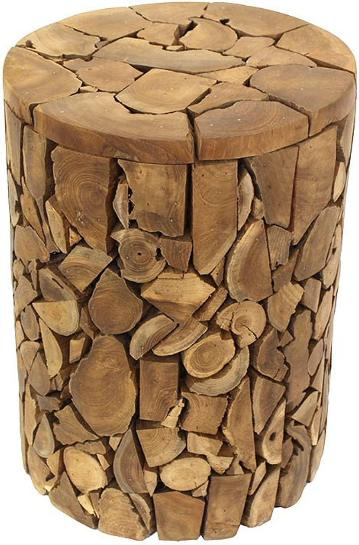 Saya Loft Stool made of reclaimed Teak Wood L 12  x D 12  x H 17