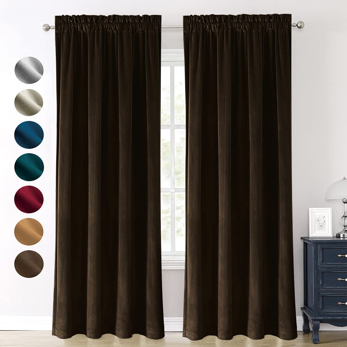 Blackout Velvet Curtains All items Award-winning store free shipping 84 Window Inches Thicken Luxury