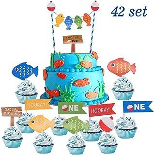 fishing first birthday cake