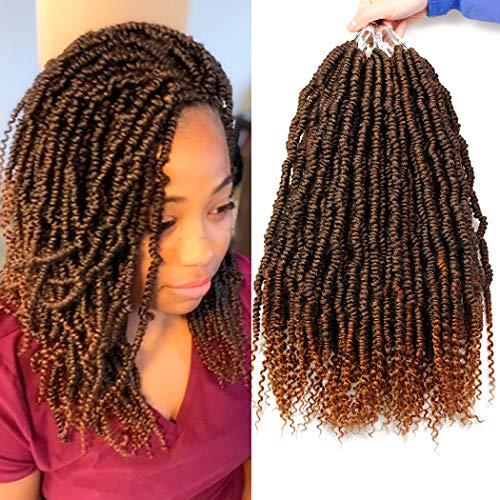 6 Packs Bomb Twist Crochet Hair 14 Inch Spring Twist Crochet Braids...