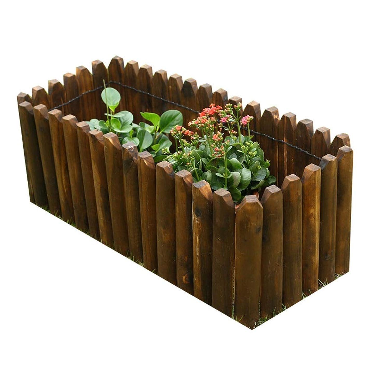 LIXIONG ボーダーフェンス ガーデンフェンス屋外の 木製 連動 パネル 工場 柵 芝生 境界 にとって デコレーション 花 植付、 8サイズ (Size : 120x50cm)