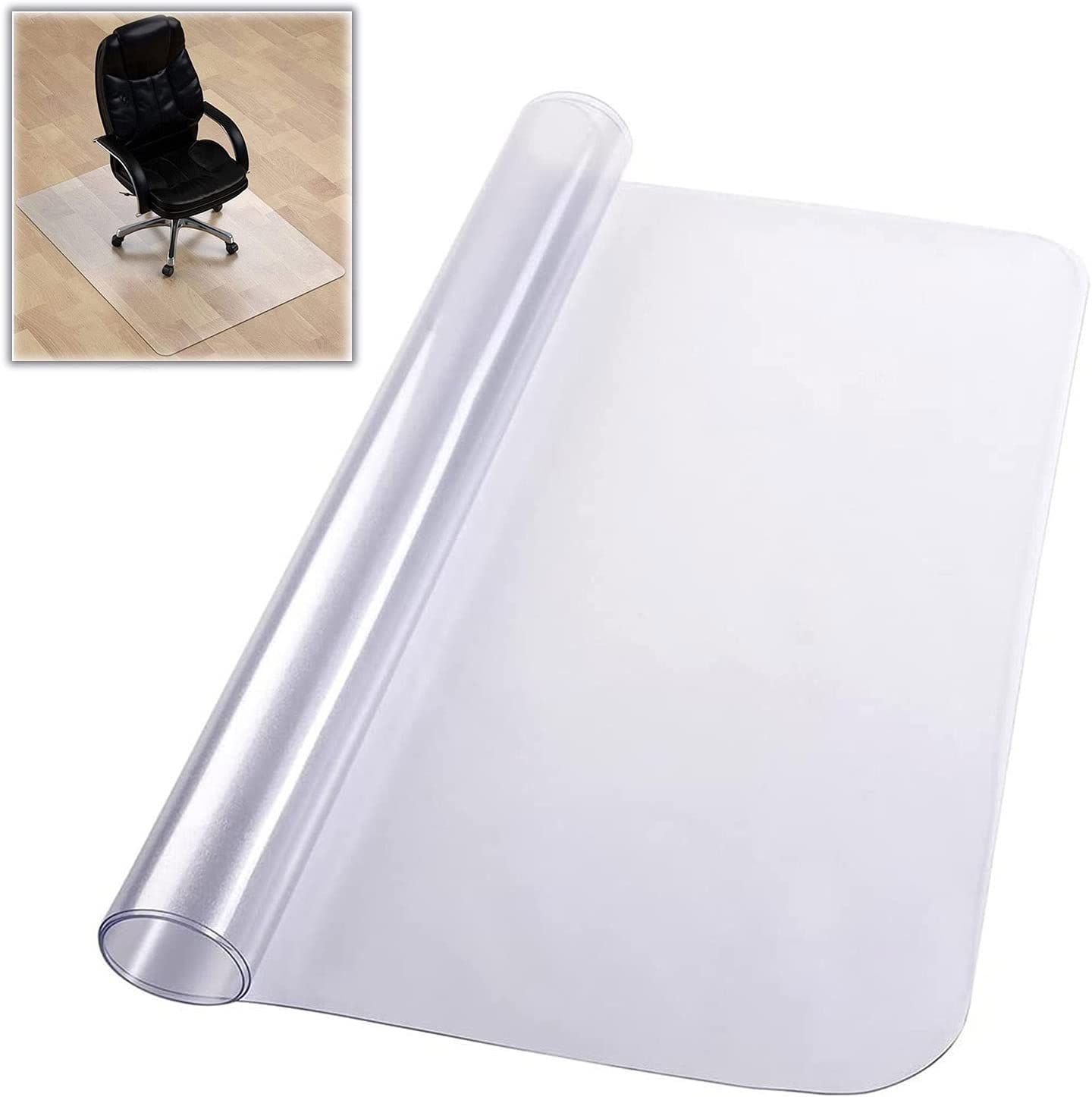 security sql Clear Chair mat for Hard Non-S Transparent service Floors Floor Mats