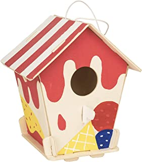 ROBOTIME 3D Wooden Painting Puzzle Bird House Kits to Build DIY Kits Educational Toys