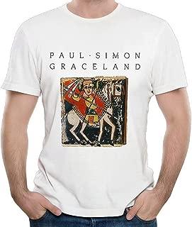 DePeal Men Paul Simon Graceland Leisure Running White T Shirt