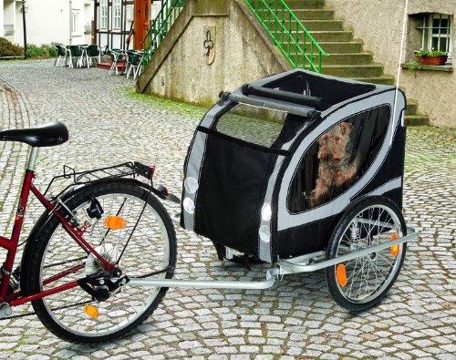 Fahrradanhänger DOGGY LINER de Luxe (148x90x88cm) für Hunde bis 50kg
