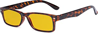 Eyekepper Ladies Blue Light Blocking Glasses with Amber Tinted Filter Lens - Design Computer Eyeglasses Women - Tortoise