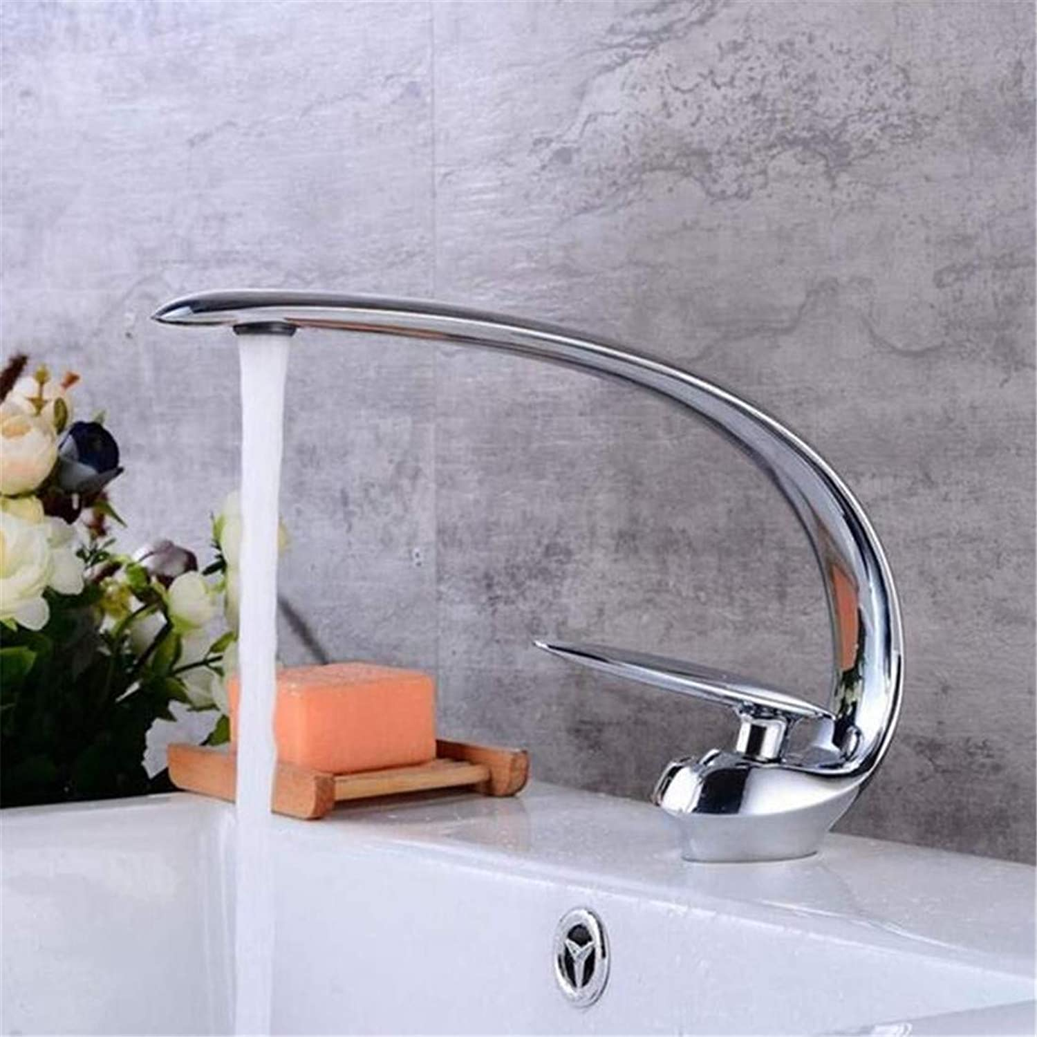 Faucet Modern Luxury Full Copper 360° redating Faucetbathroom Faucets Style All-Copper Chrome Ancient Taps Hot and Cold Washbasin