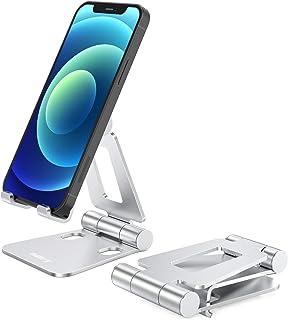NULAXY Verstelbare mobiele telefoonstandaard, tabletstandaard: tafelhouder voor mobiele telefoon Xs Max, Xs, XR, X, 8, 7, ...