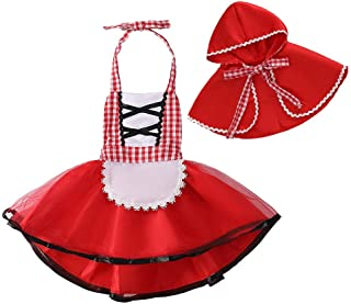 MYRISAM Baby Girls Deluxe Little Red Riding Hood w/Cape Cloak Halloween Fancy Dress Up Costume Storybook Fairy Tale Outfit...