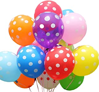 100 ct assorted Polka Dots Balloon 12Inch Latex Helium Balloons for Wedding Birthday Party Festival Christmas Decorations