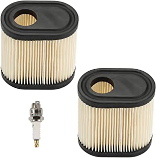 Mckin 36905 for Tecumseh Air Filter RJ19LM Spark Plug Kit for Toro Recycler 20016 20017 20018 Lawn Mower (Pack of 2)