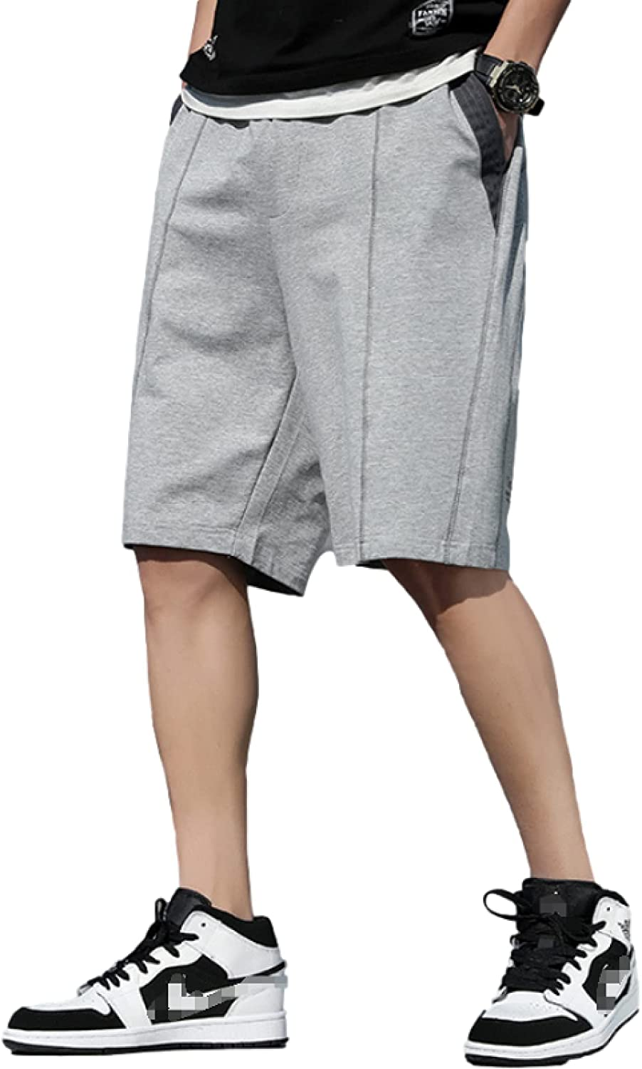 Men's Simple All-Match Shorts Summer Fashion Stitching Casual Comfortable