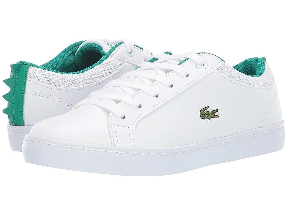 Lacoste Kids Straightset 119 1 CUC (Little Kid) (White/Green) Kid