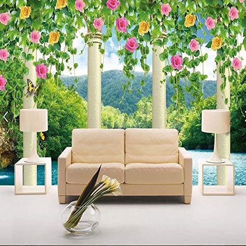3D vliesbehang fotovlies premium fotobehang behang 3D woonkamer restaurant café moderne bloem fotobehang landschap slaapkamer behang 400*280 400 x 280 cm.
