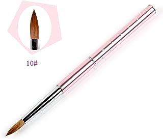ANGNYA Pincel de acrílico para decoración de uñas, 1 unidad, mango de metal con diamante 10# (rosa)
