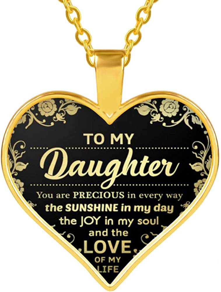 SOULSIS Handmade Heart Pendant Necklace to My Future Wife Engraved Motivational Message Alloy Jewelry Gifts from Husband