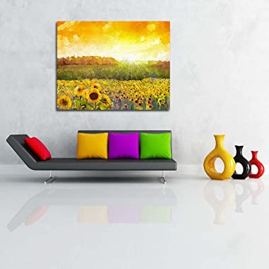 Pitaara Box Sunflower Blossom Canvas Painting MDF Frame 25.5 X 20Inch