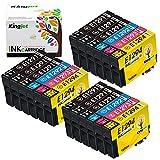 Kingjet Compatible Cartuchos de Tinta reemplazo para T1295 T1291 T1292 T1293 T1294 para Workforce WF-3520 WF-7515 Stylus Stylus SX235W SX525WD SX535WD SX420W Stylus Office BX5WD