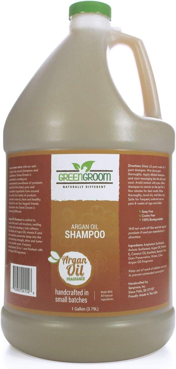Green Groom Argan Oil Dog Shampoo 1 High quality Vitamin Philadelphia Mall and Gallon - Anti E