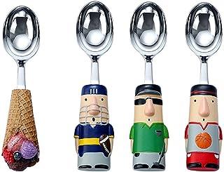 Table Dinner Spoons Ice Cream Scoop Set 4 Self-melting Ice Cream Scoops Cute Watermelon Scoop Commercial Scoop Teaspoon