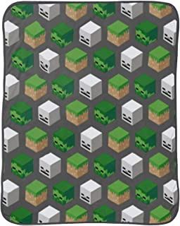 Jay Franco Minecraft Survive Throw Blanket - Measures 46 x 60 inches, Kids Bedding - Features Skeleton and Zombie - Fade Resistant Super Soft Fleece (Official Minecraft Product)