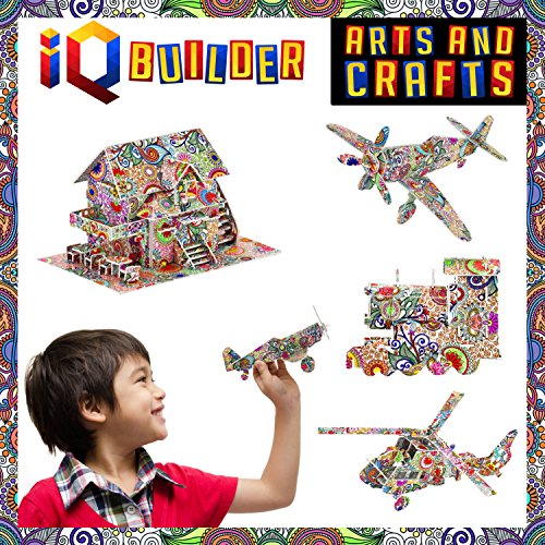 IQ BUILDER | Fun Creative DIY Arts and Crafts KIT | Best Toy Gift for Girls and...
