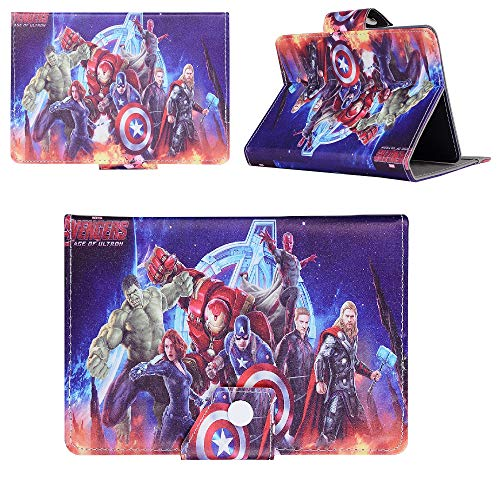 Avengers on Fire - Hero Avengers Universal Case - children kids Tablet Cover / 8' inch Tab - 8' Size compatible with ANY Model Samsung Android Ipad Amazon kindle etc
