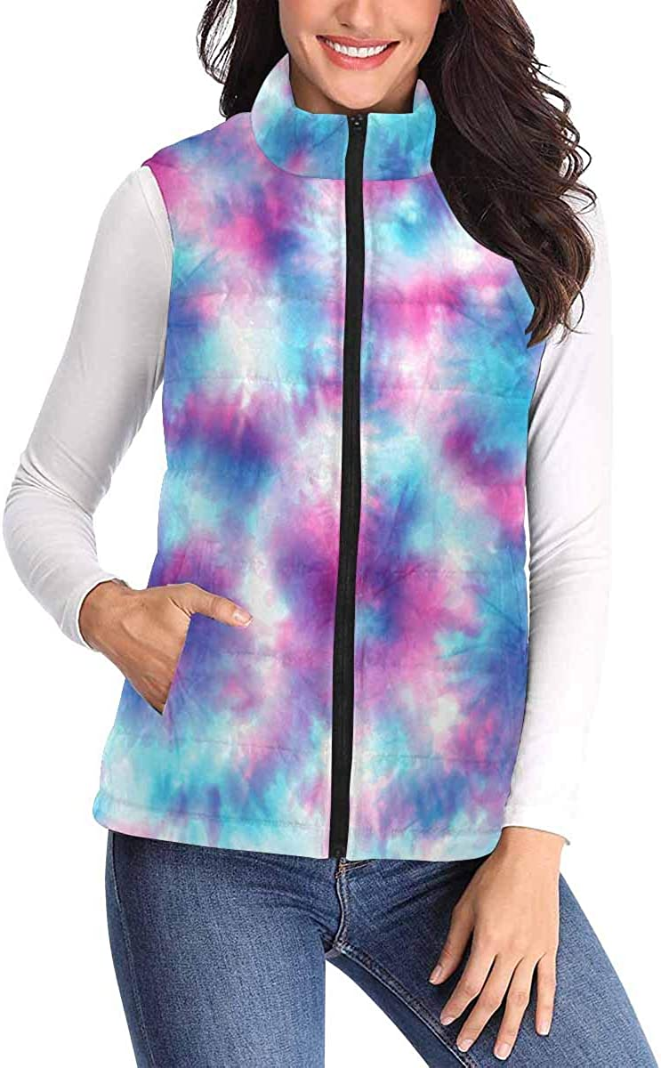 InterestPrint Casual and Fashionable Women Padded Vest with Colorful Prints The Skeleton Dance