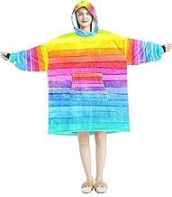 Deken Hoodie, Casual Zachte Microfiber Housecoat, Warm Nachthemd voor Mannen Vrouwen met Kleurverloop Patroon Ontwerpen