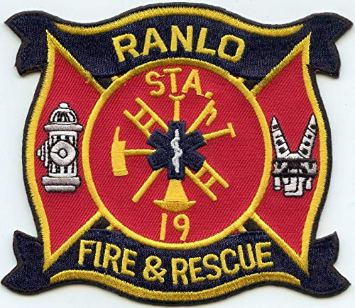 Embroidered Patch - Patches for Women Man - RANLO North Carolina NC Fire & Rescue FIRE