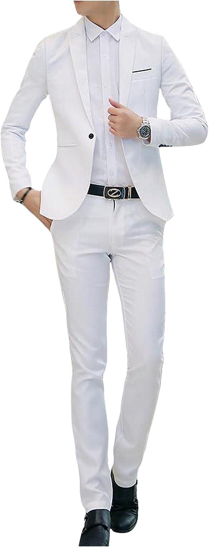 Letuwj Men`s One-Button Business Suit Set