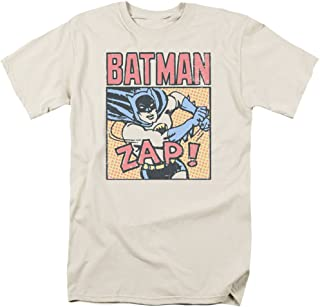 Batman Bat Zap Mens Camisa Manga Corta (Crema, XXX-Grande)