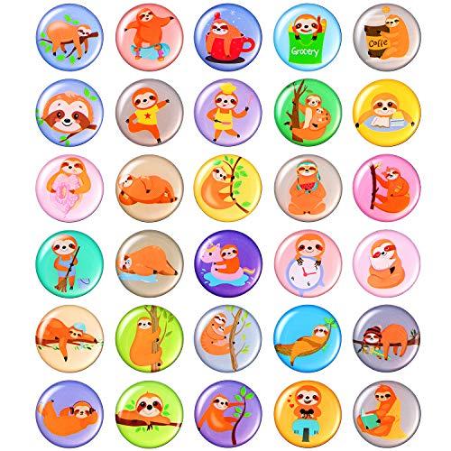 MORCART Faultier Kühlschrankmagnete für Kühlschrank Nette Lustige Magnete Küche Schulschränke Klassenzimmer Whiteboard Büro Kabine Magnettafel Dekorative Magnete Geschenke für Erwachsene Kinder