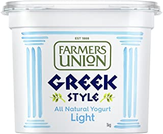 Farmers Union Natural Light Greek Style Yoghurt, 1kg - Chilled