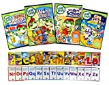 Leap Frog Learning Pack # 2 (Talking Words factory / Word Caper / Let's Go to School / Sing and Learn with Us) (Bonus Flashcards)