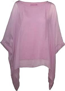 Tunika Bluse Gr Sommershirt 34 36 38 40 42 44 46 48 Longshirt pink weiß