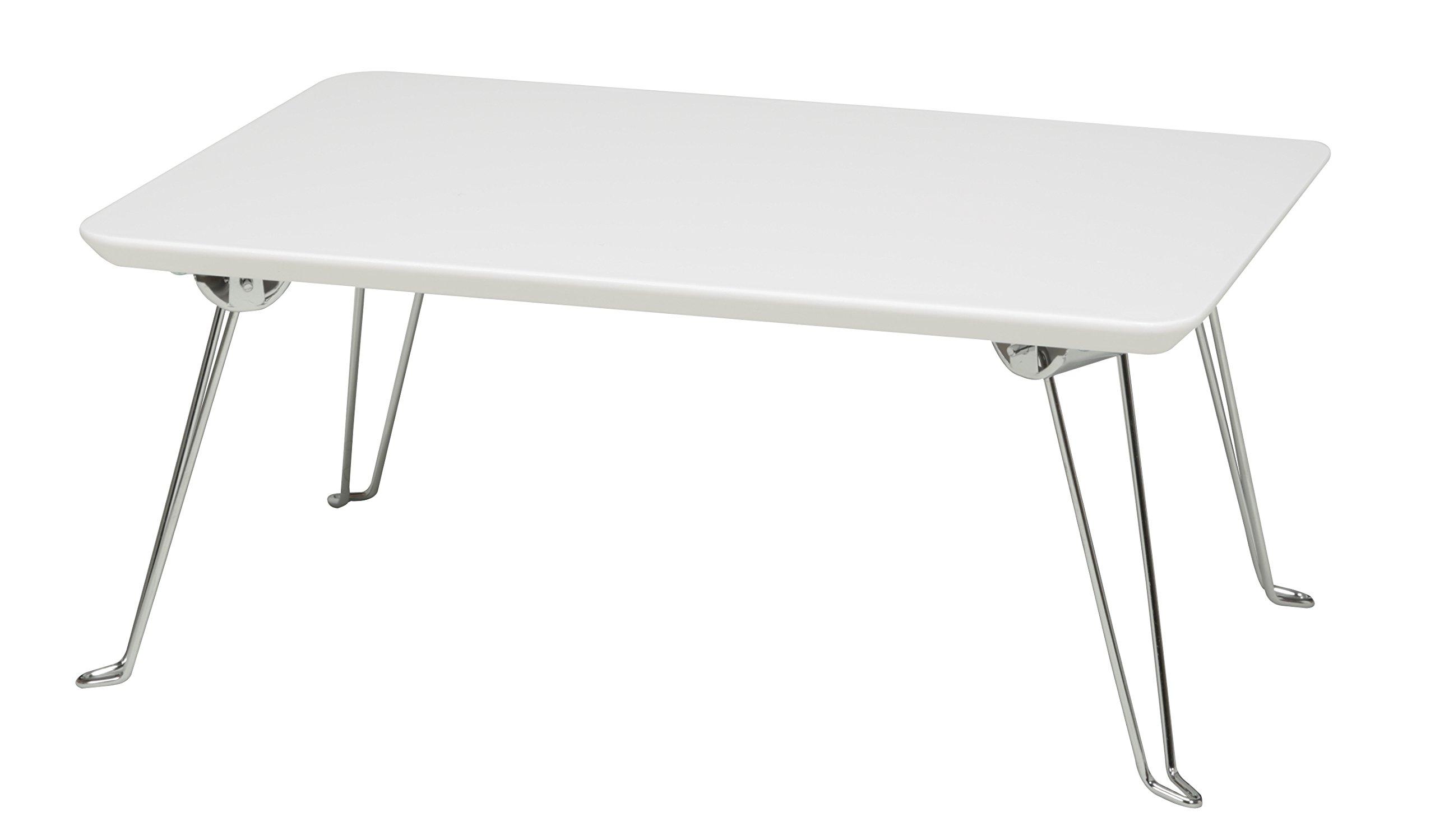 永井興産 ローテーブル ホワイト W45×D30×H19.5cm、折りたたみ時の厚み:5cm