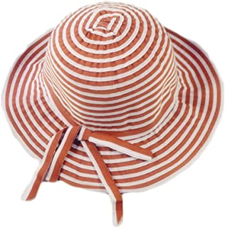GLJJQMY Casual Straw Fisherman Hat Solid Color Folding Sunhat Sun Protection Hat Summer Hat (Color : Brown, Size : 54-56cm)