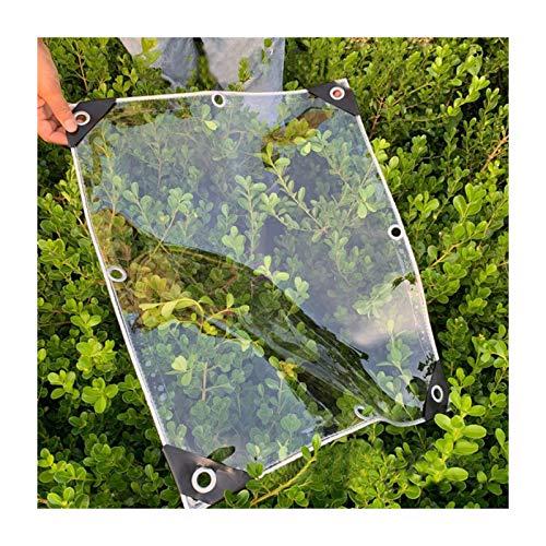 MAHFEI Lonas Impermeables Exterior, Tela Toldo Transparencia 99,99% Impermeable con Ojales De Metal para Cubierta De Plantas Al Aire Libre Mantener Caliente PVC De 0,3 Mm Carpa para Camping